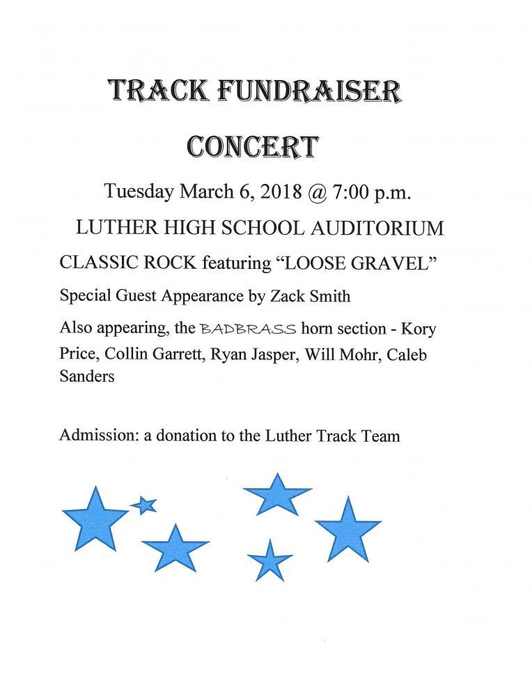 Track fundraiser concert