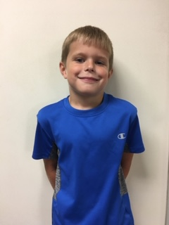 Pason Whitehead - 2nd Grade - Aug. Student of the Month