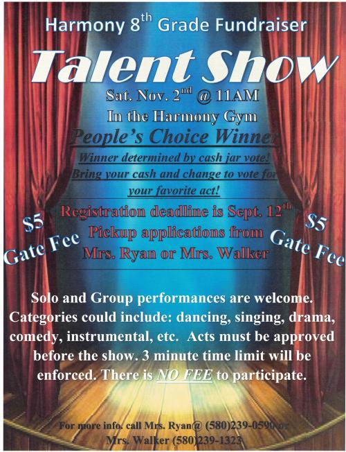 Talent Show Nov 2 at 11:00am