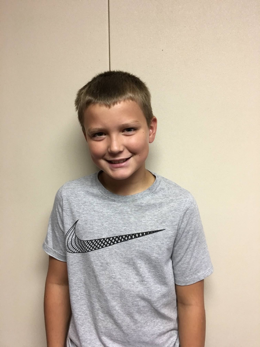 Josh Morris - 5th Grade - Aug. Student of the Month