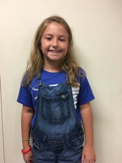 Jaylee Pettigrew - 3rd Grade - Aug. Student of the Month