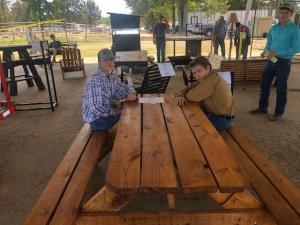 Picnic table built by DK FFA.