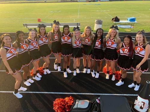 DHS Cheerleading Group Photo