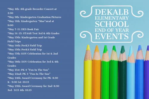 DES End of Year Events