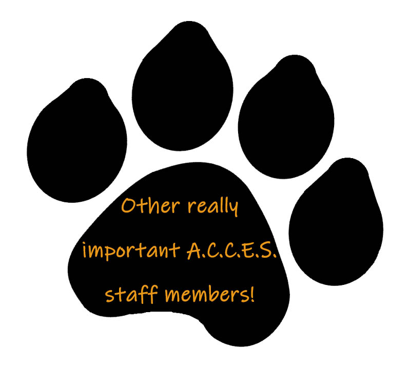 Click on the Tiger paw to meet other really important ACCES staff members