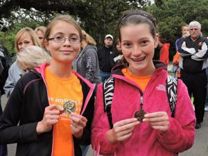 7th Grade - Victoria Caplinger 1st, Shelby Scholz 6th @ Holton Invitational