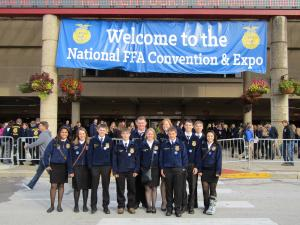 FFA Members at the 2015 National Convention in Louisville, KY