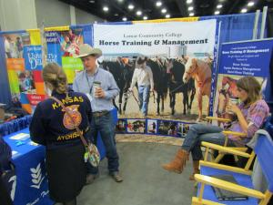 One of our members learning about career options at the National FFA Convention Career Fair