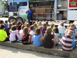 The Atchison County FFA hosted Southwest Mobile Dairy Classroom for the elementary students on August 29th
