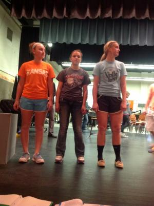Rehearsal ... Learning our moves!