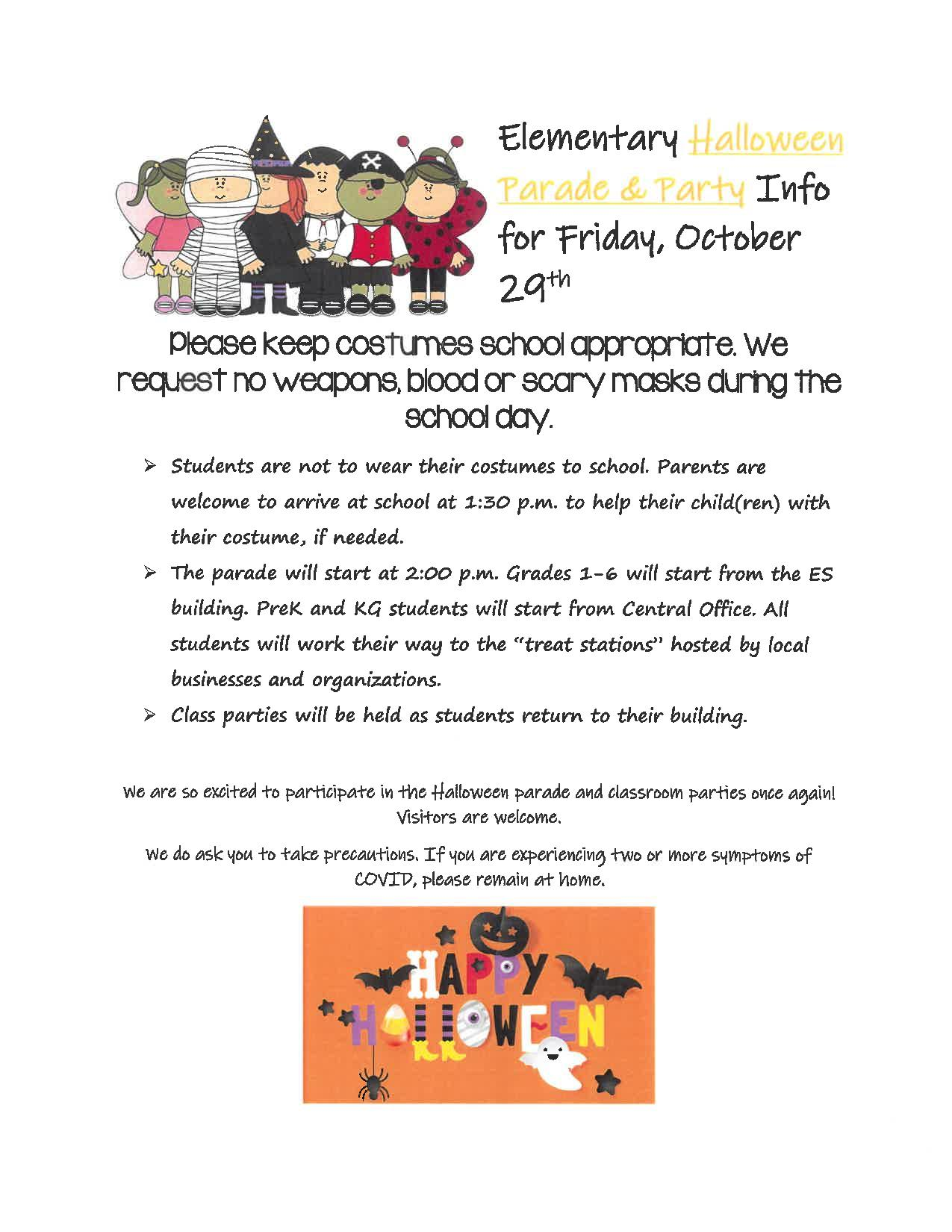 2021 Halloween Happenings at A.C.C.E.S. - Click on the picture to see it better!