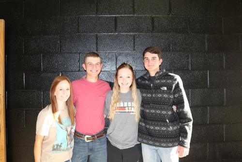 State Qualifying Livestock Judging Team- Natalie Selman, Clint McGee, Ashlyn Wood, and Jake Miller