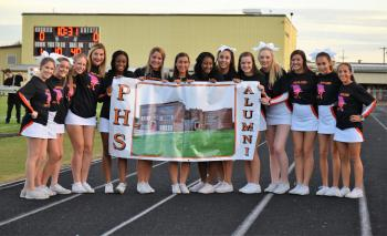 17-18 Cheer Advertising for the All School Reunion