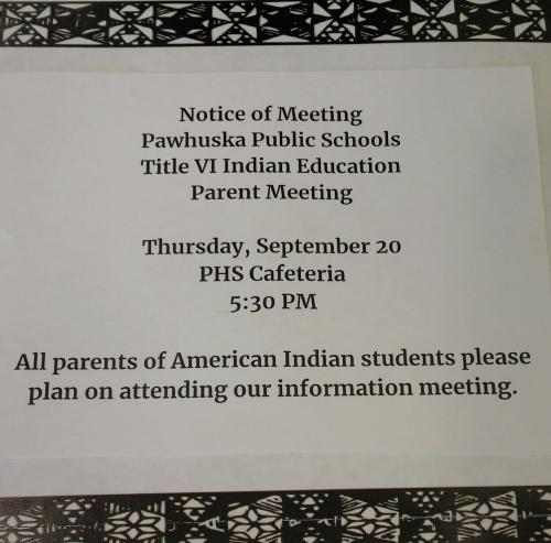 Indian Education Meeting.