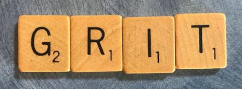 Tiles that spell GRIT