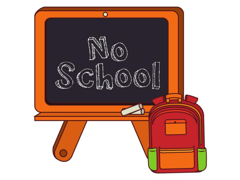 NO SCHOOL MONDAY 01/18/2021