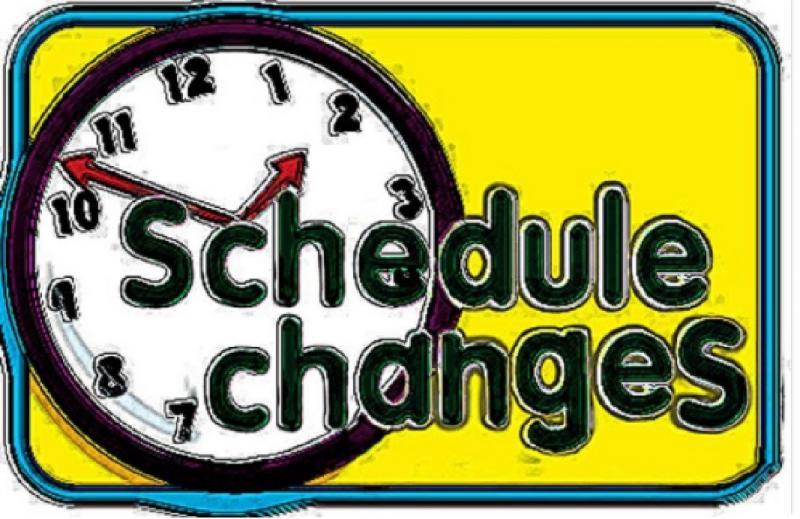 2021-2022 HS SCHEDULE CHANGES