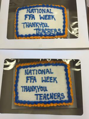 FFA Week Celebrations: Teacher Appreciation Day