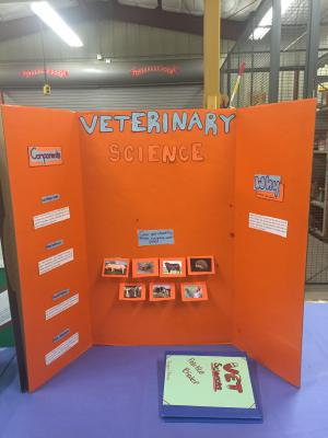 Students prepared display's for their judging contests to show parents at the BBQ