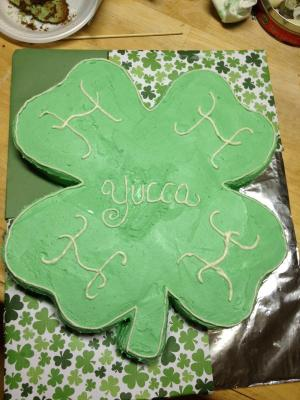 A cake that Yucca 4-H member, Michaela Zamora baked for the Sale Ring Cake contest at the County Fair