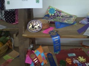 A belt that Yucca 4-H member, Desirae Zamora entered in the County Fair