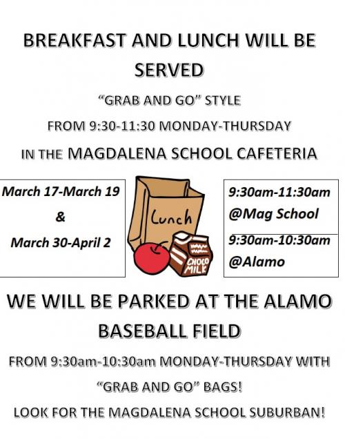 Breakfast/Lunch Flier during Closure