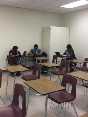 These students were checking to see if they had anything else to complete.