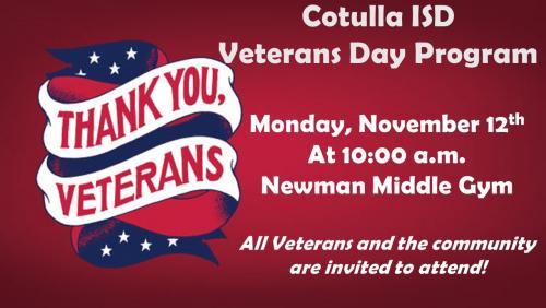 Veterans Day Program Info