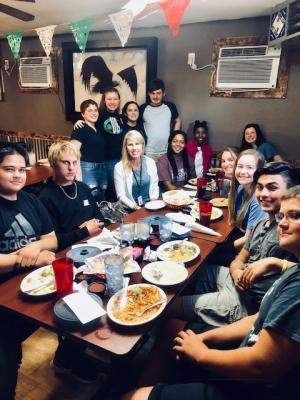 Spanish 3 Fall Field Trip 2018 to Dos Maria's