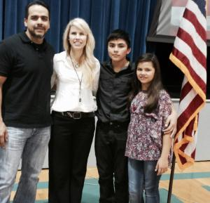 The Marquez Family: Eduardo, Cheryl, Matthew, and Madeleine