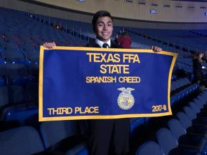 FFA & Spanish Student, Matthew Marquez,  Places 3rd at STATE FFA Spanish Creed!!!