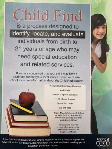 Identifying Individuals Who May Need Special Education Services