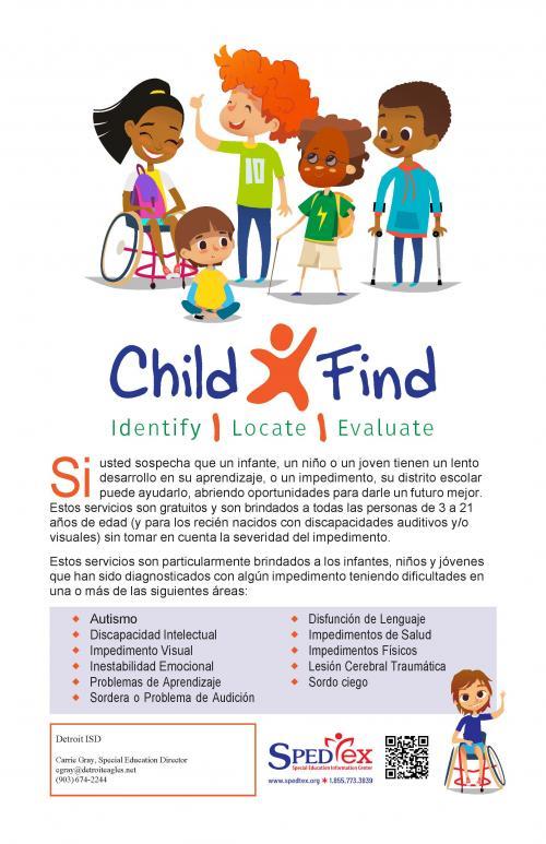Child Find Poster - Spanish