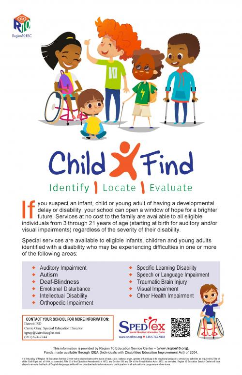 Child Find Poster - English