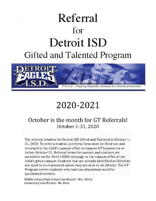 October is the month for GT Referrals