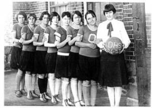 Oktaha Girl's Basketball 1926-27