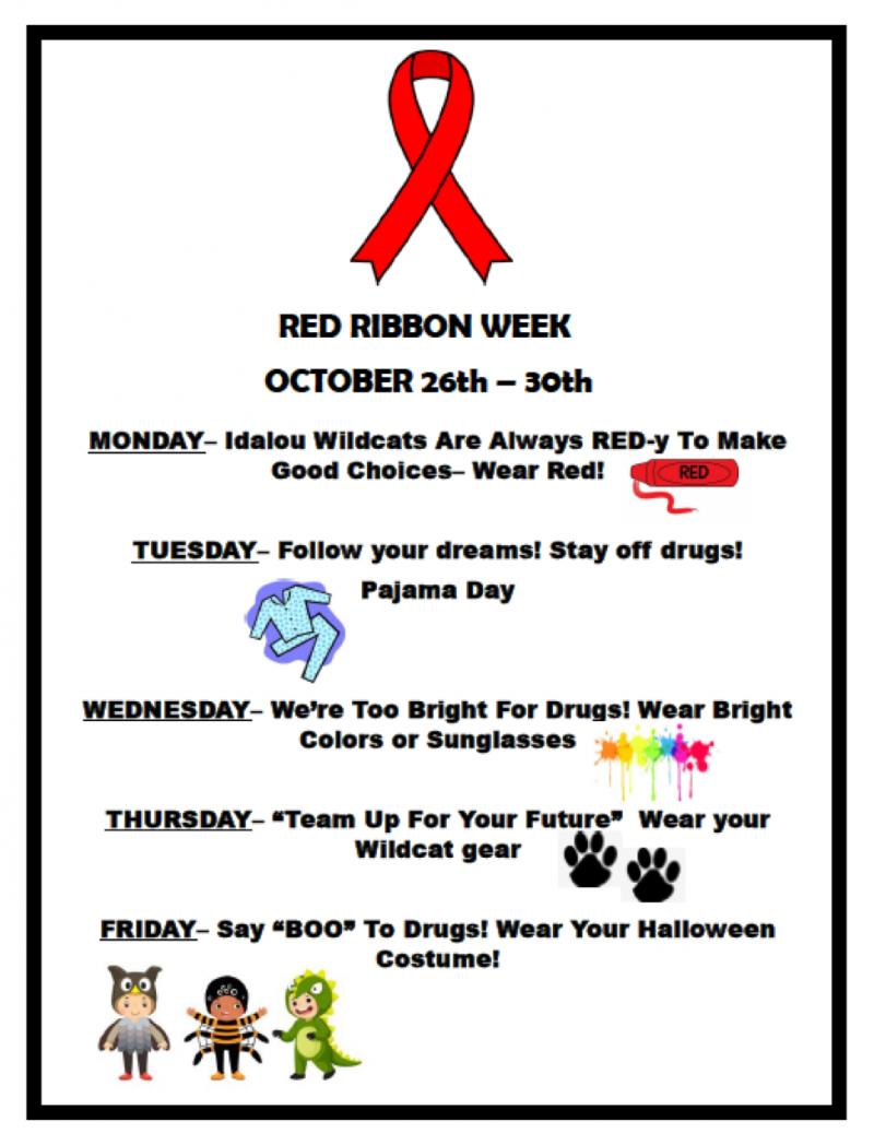 Red Ribbon Week October 26-30