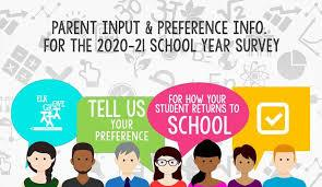 Parent Survey regarding 2020-2021 School Year