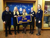 Greenhand FFA Quiz - 1st place - Madison Taylor, bailey Bozeman, Brooke Zwonitzer, Desirae Randall