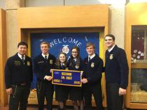 Sr. FFA Quiz - 2nd place - Emery Herrington, Lauren Smithwick, Kelsey Collins, Everett Herrington