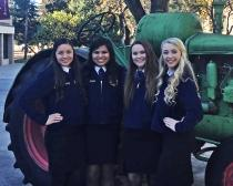 FFA Agricultural Advocacy - 9th place - Marissa Hernandez, Haley Flores, Jenna Phelps, Madisson Sharkey