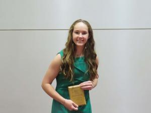 9th Grade Top Scholar Athlete Lexi Caddell, not pictured Logan Sanders