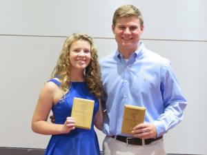 10th Grade Top Scholar Athlete Emily Hill and Cooper Hill