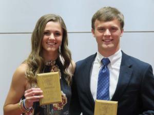 12th Grade Top Scholar Athlete Sydney Whittle and Everett Herrington