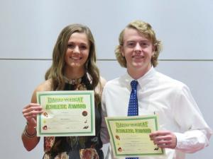 Booster Club Scholarship winners, Sydney Whittle and Blake Howard