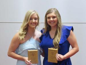 Wildcat Achievement Award Ashlyn Shelley and Libby Davis