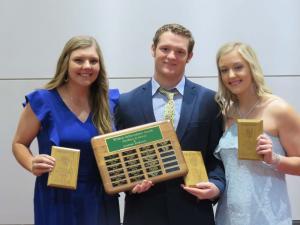 Wildcat Achievement Award Libby Davis, Drew McGehee and Ashlyn Shelley