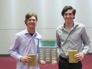 Olen Reddell Award for Top Male Athlete Matt Adams and Mckade Merrell