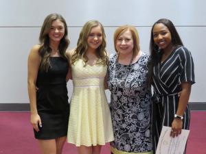 senior Cheerleaders with Mrs. LoCascio