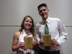 10th grade Top Scholar Athletes Shaylee Stovall and Carson Park